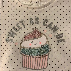 Carter's Matching Sets - Baby girls 3 month outfit black & white w/sequins